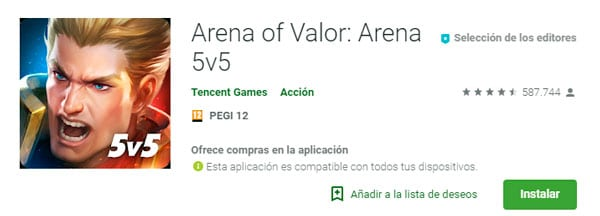 descargar Arena of Valor