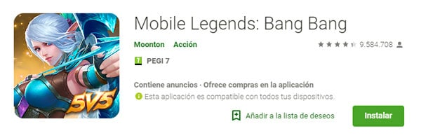 descargar Mobile Legends Bang Bang