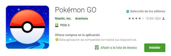 descargar apk Pokémon GO