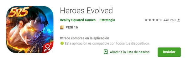 descargar heroes evolved
