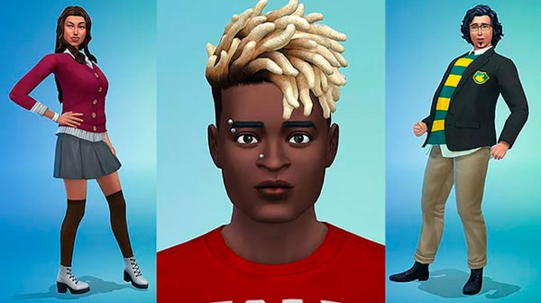 The Sims 4 piercings