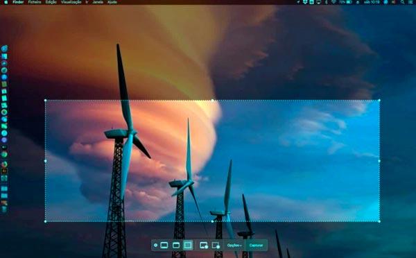capturas de pantalla en macOS