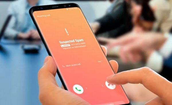 llamadas spam en el móvil