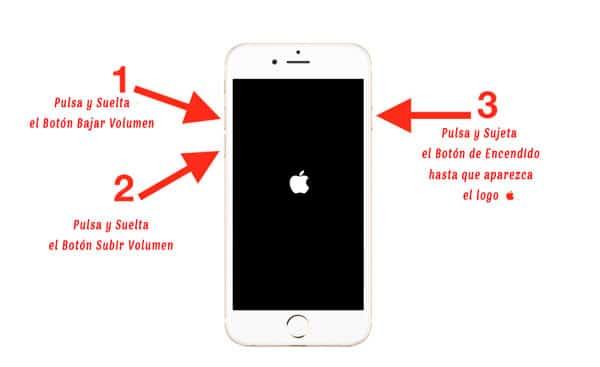 reset del iPhone