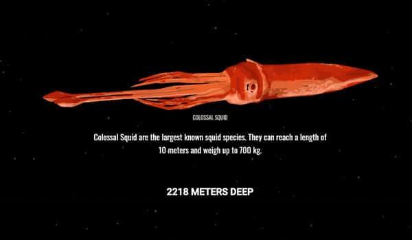 2218 metros de profundidad