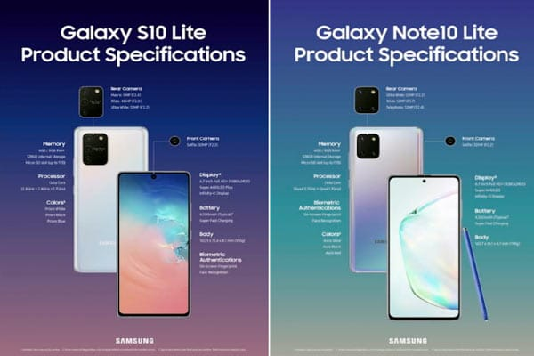 especificaciones galaxy note 10 lite