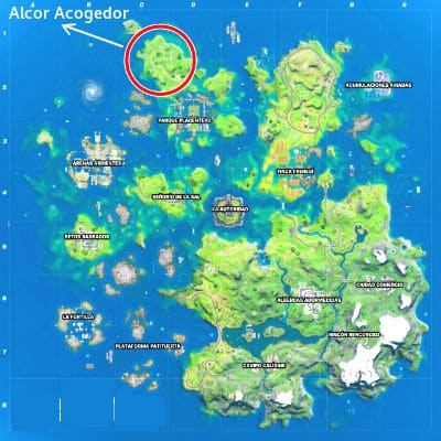 mapa Alcor Acogedor