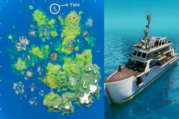 mapa el Yate en Fortnite Temporada 3