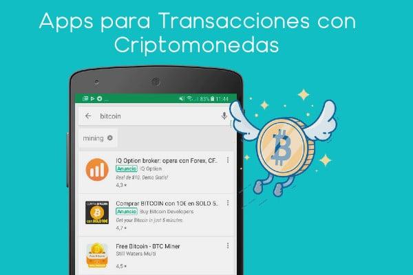 Apps para transacciones con criptomonedas