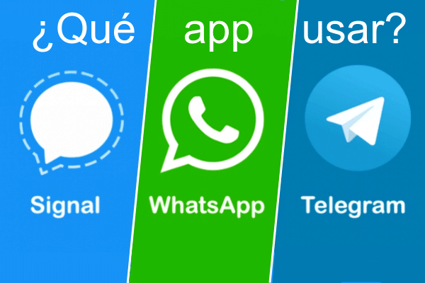 Signal como alternativa a Whatsapp y Telegram