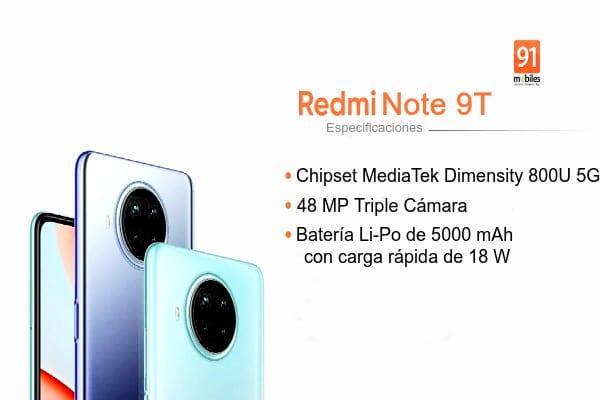 especificaciones Redmi Note 9T