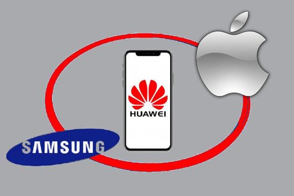 Huawei cobrará regalías a Samsung y Apple