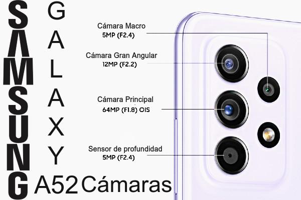 Cámara Galaxy A52