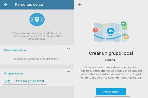 Crear grupo local en Telegram