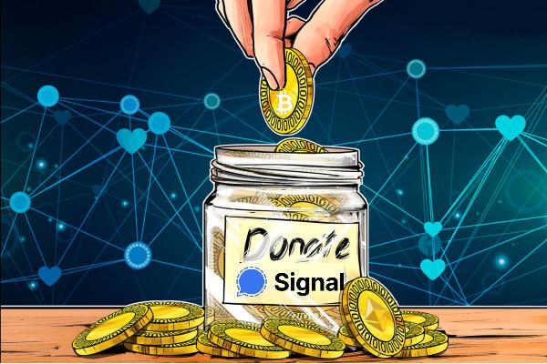 Signal recibe criptoactivos en donaciones