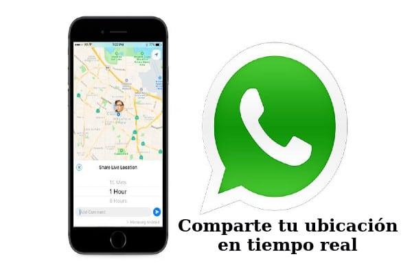 Compartir ubicación con WhatsApp
