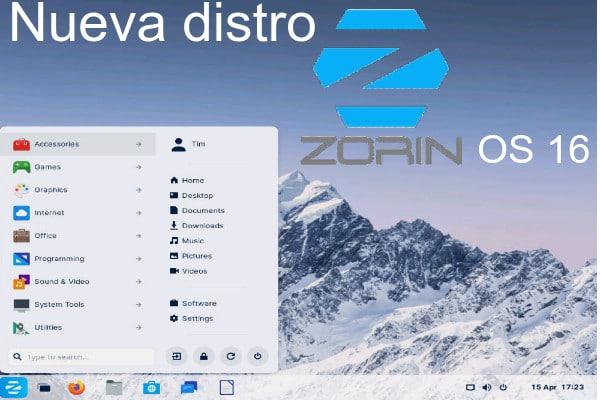 Distro Zorin OS 16
